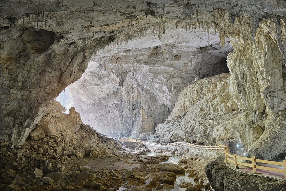 One of Bama's caves which promises a quiet place to recharge—perhaps literally.