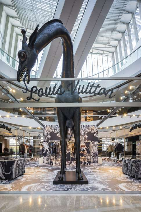 The Louis Vuitton menswear pop-up store in Central's IFC Mall