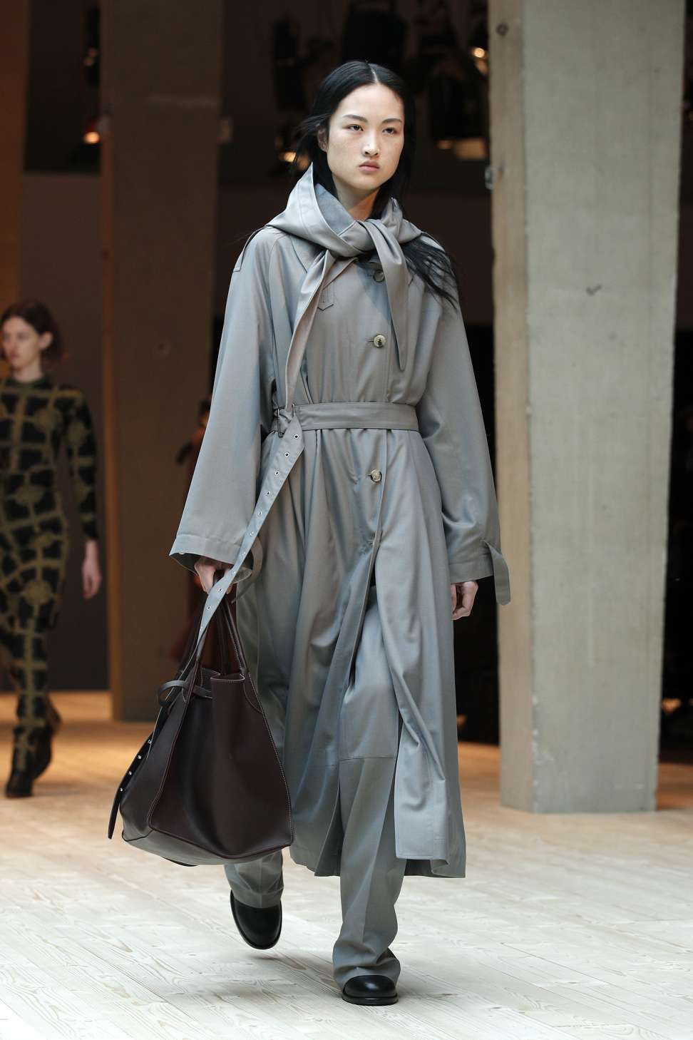 celine gray 1aqx  Celine's autumn-winter 2017 collection at Paris Fashion Week Photo: EPA