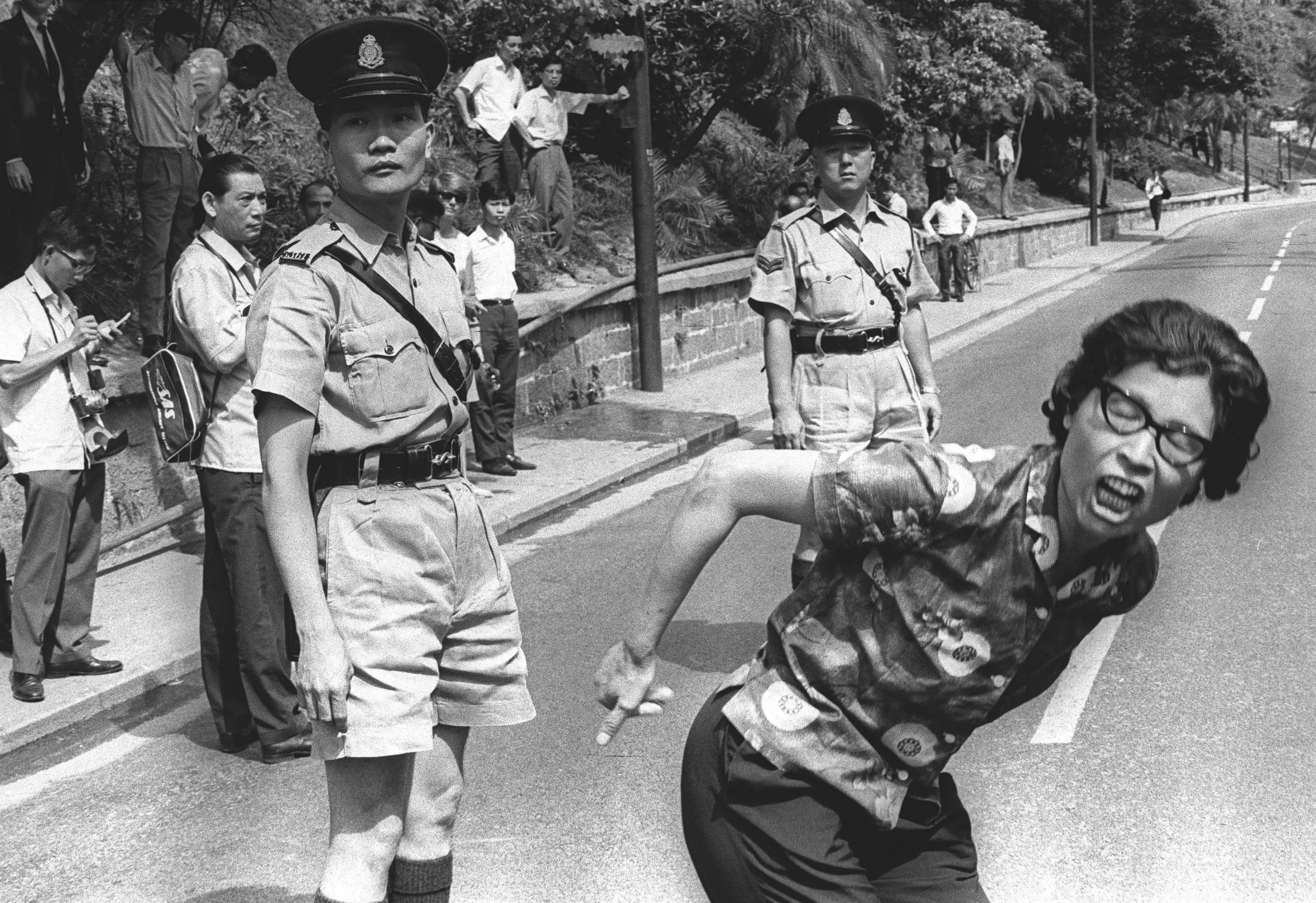 A protester outside Government House on May 19, 1967. Picture: SCMP. ""