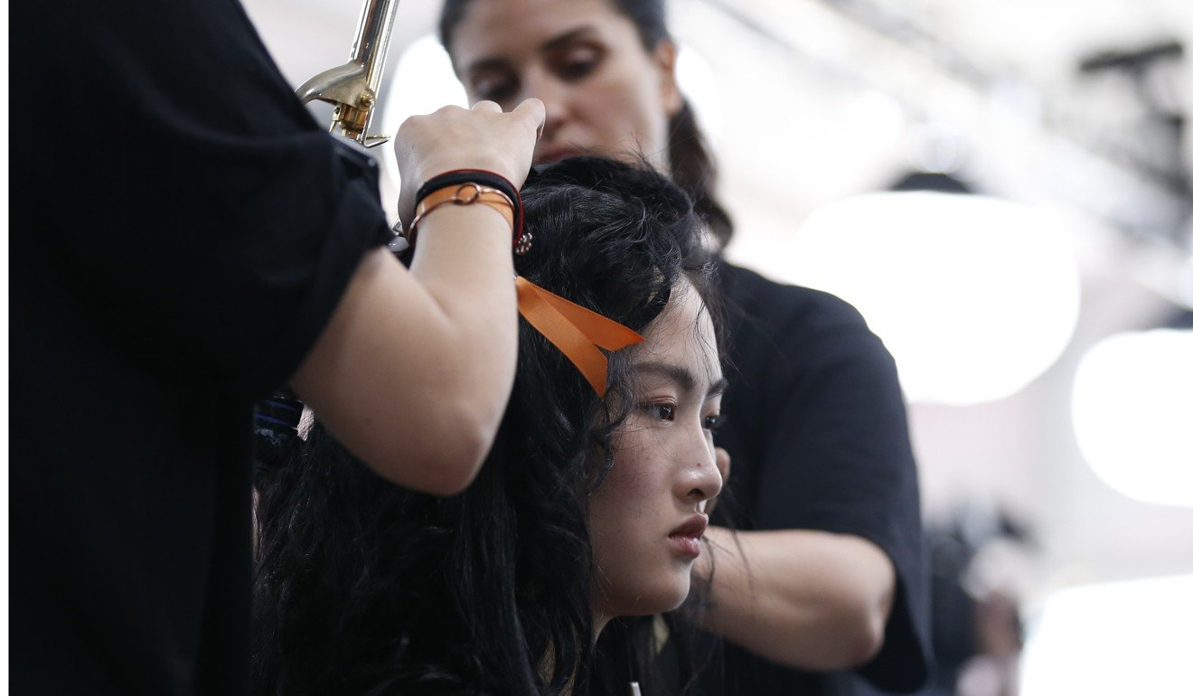 backstage at dior's cruise collection runway show, los angeles