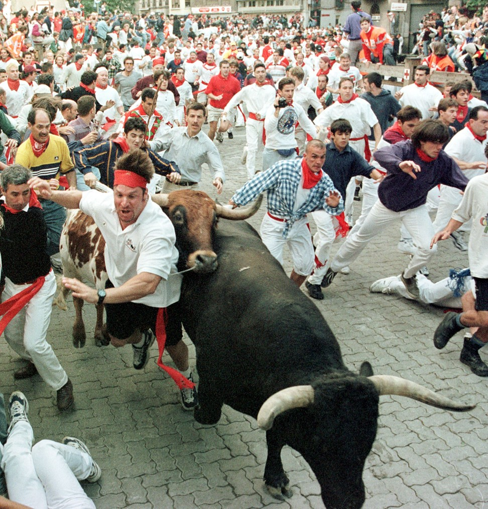 running of the bulls San fermin festival 2018 or running of the bulls festival 2018 in irunea / pamplona when is san fermin 2018 what to do in pamplona spain.
