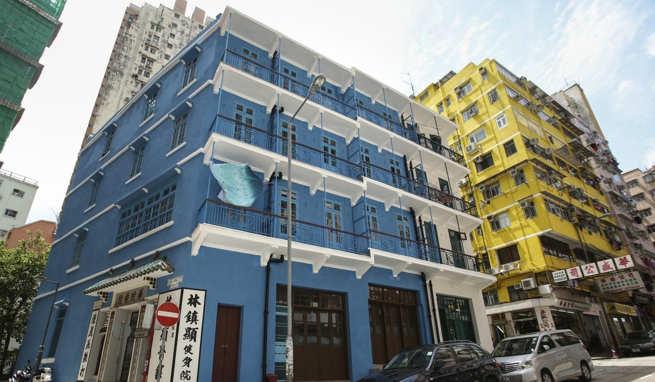 Hong kong couple downsize to historic building but are for Blue house builders