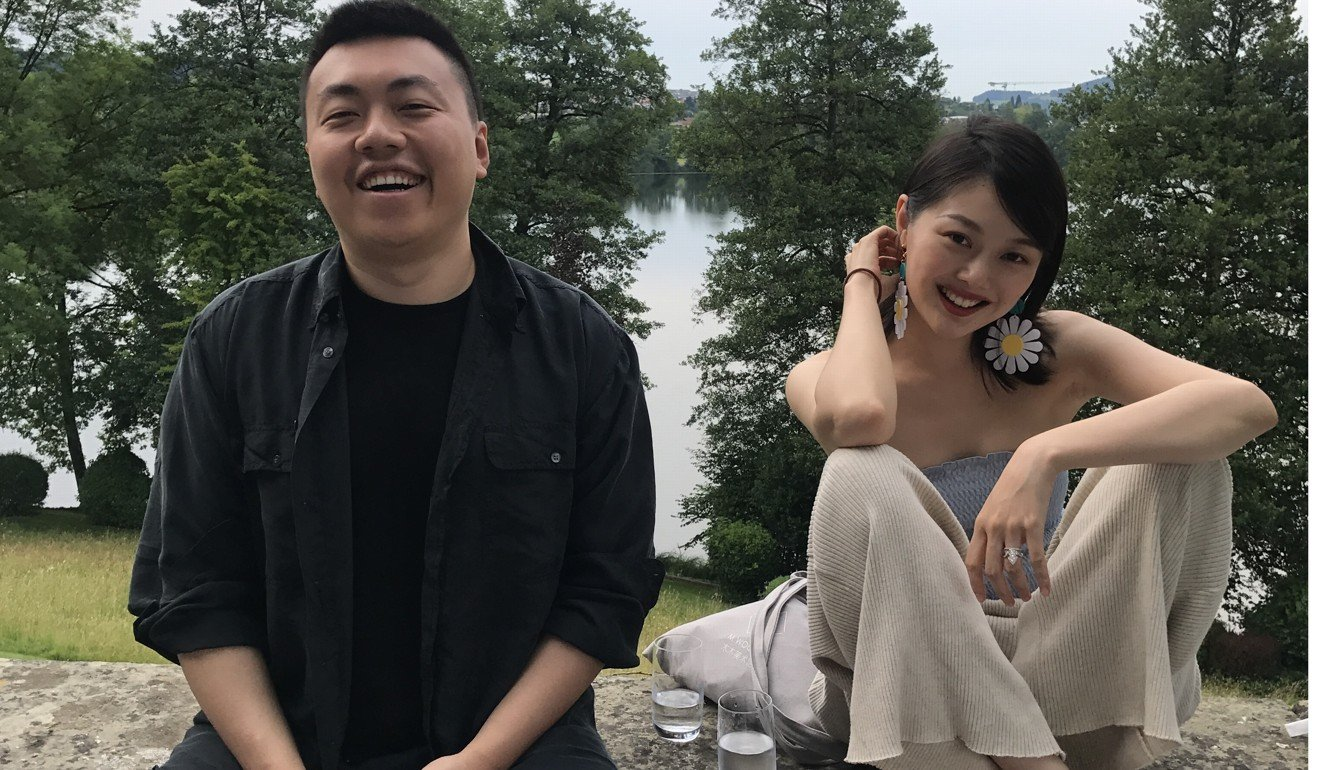 Lin Han, left, and Wanwan Lei in Switzerland. Photo: Handout