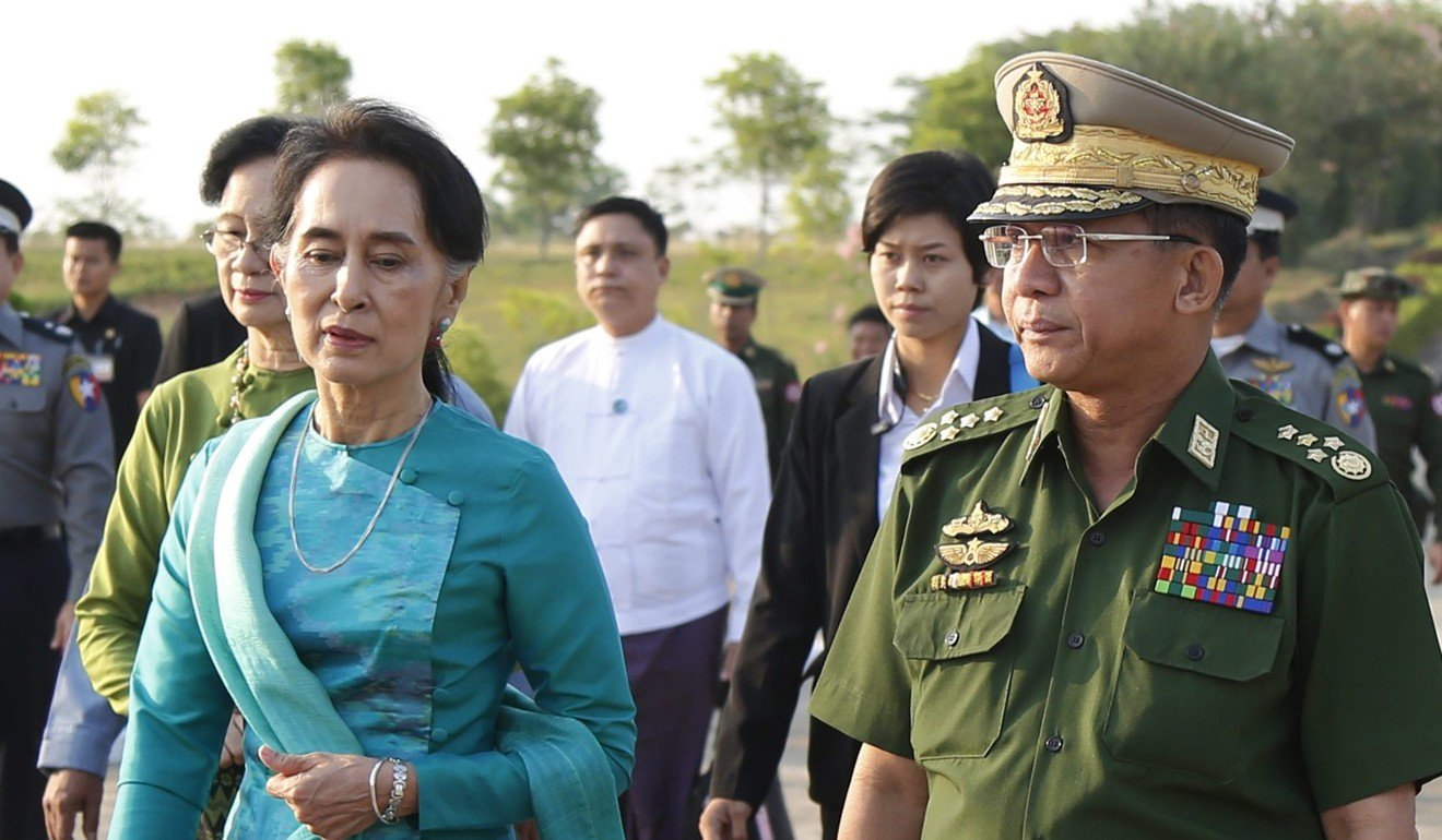 Image result for General Min Aung Hlaing, pope francis, photos
