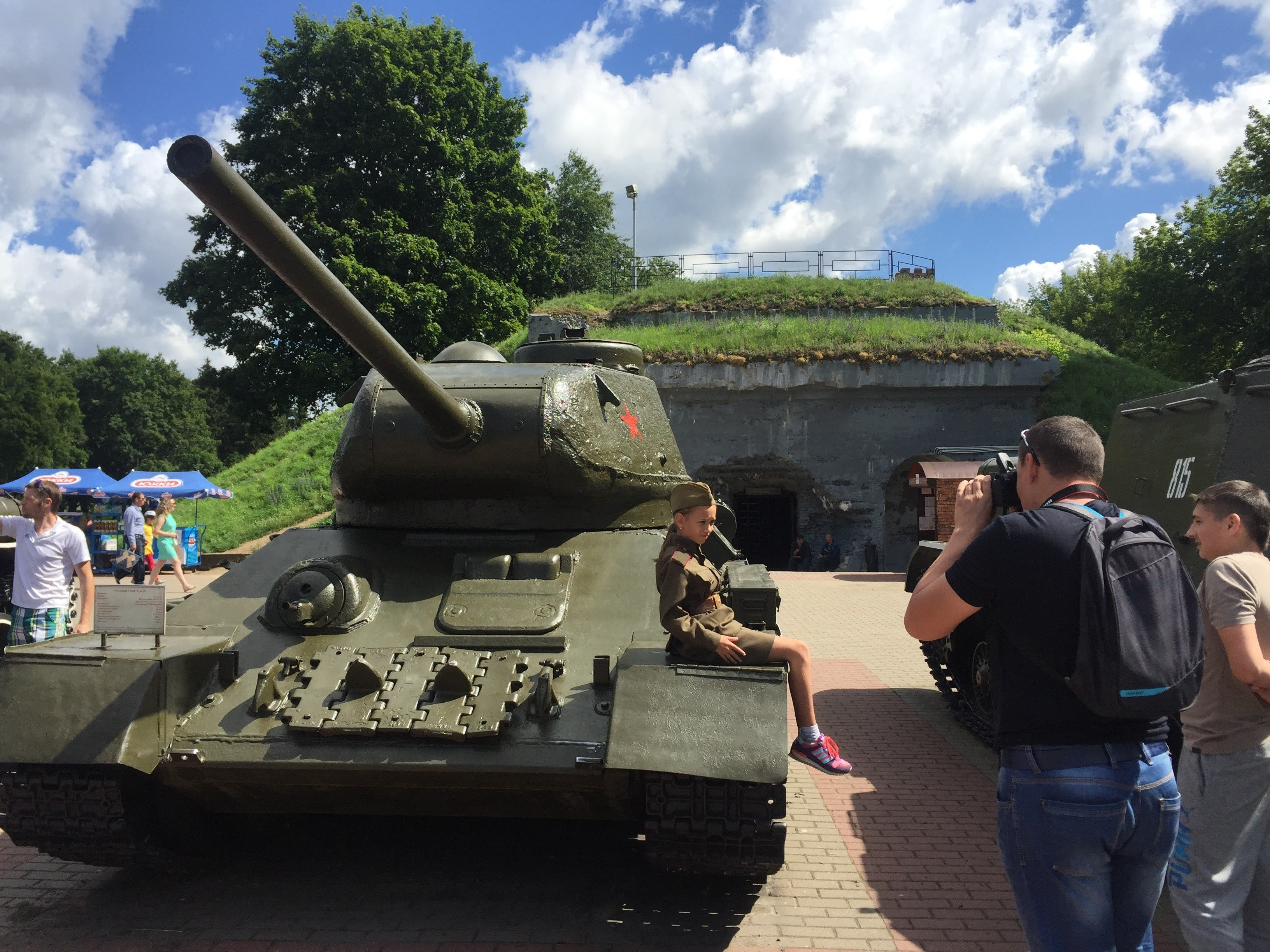 Brest Fortress then and now