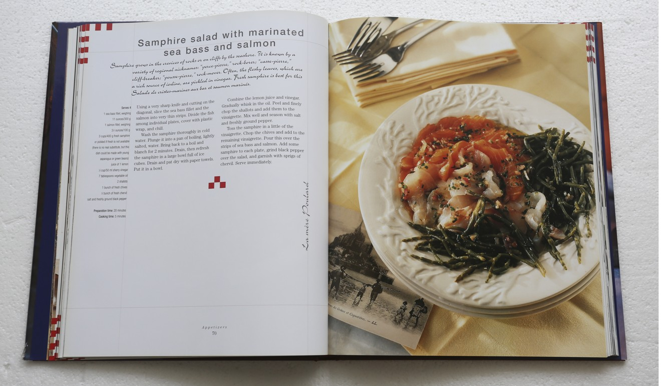 Simple french cooking a cookbook that pays tribute to the mothers the recipe for samphire salad with marinated sea bass and salmon from the book forumfinder Choice Image