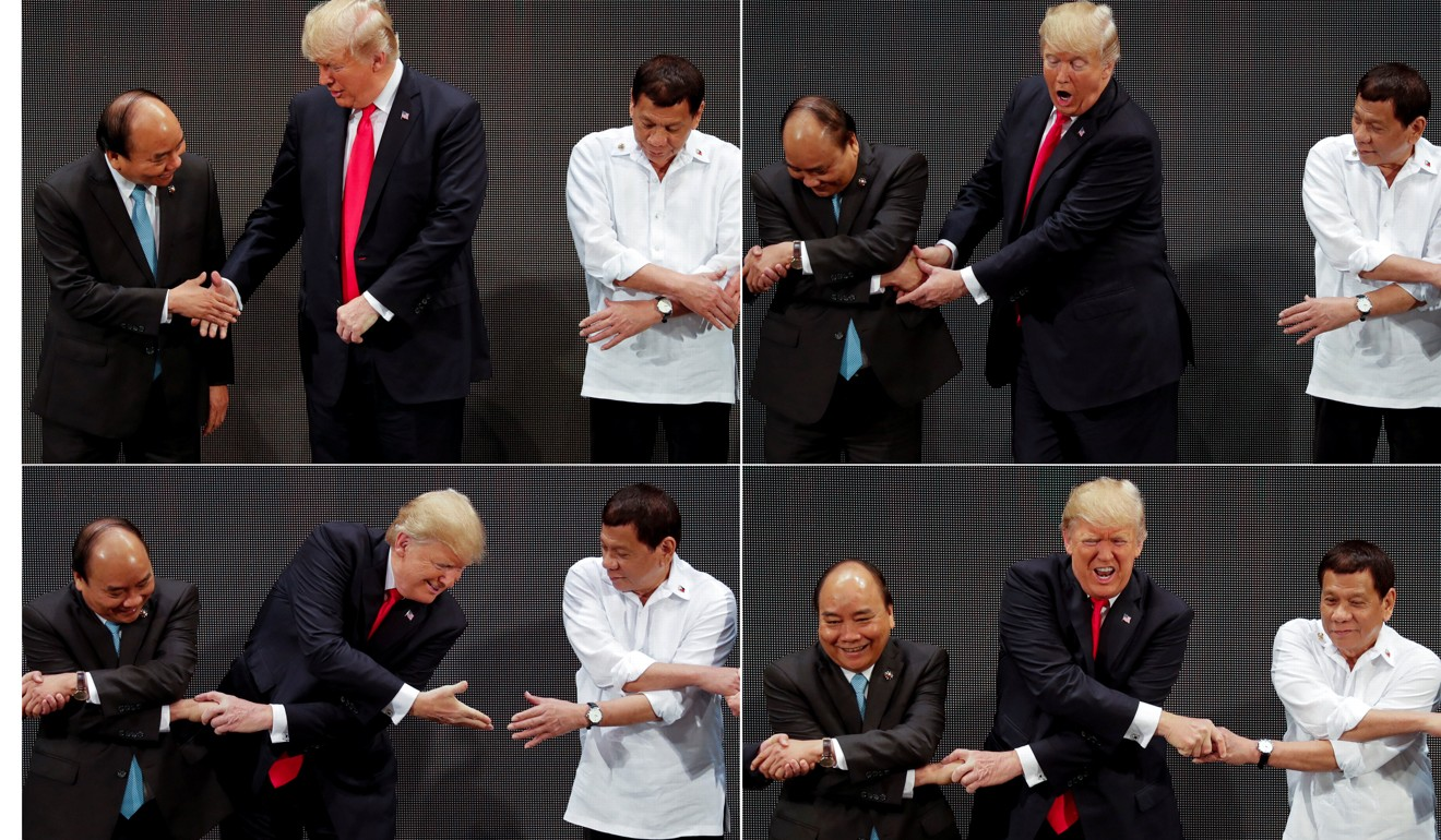 Donald Trump botches 'Asean handshake', forgets to cross arms during