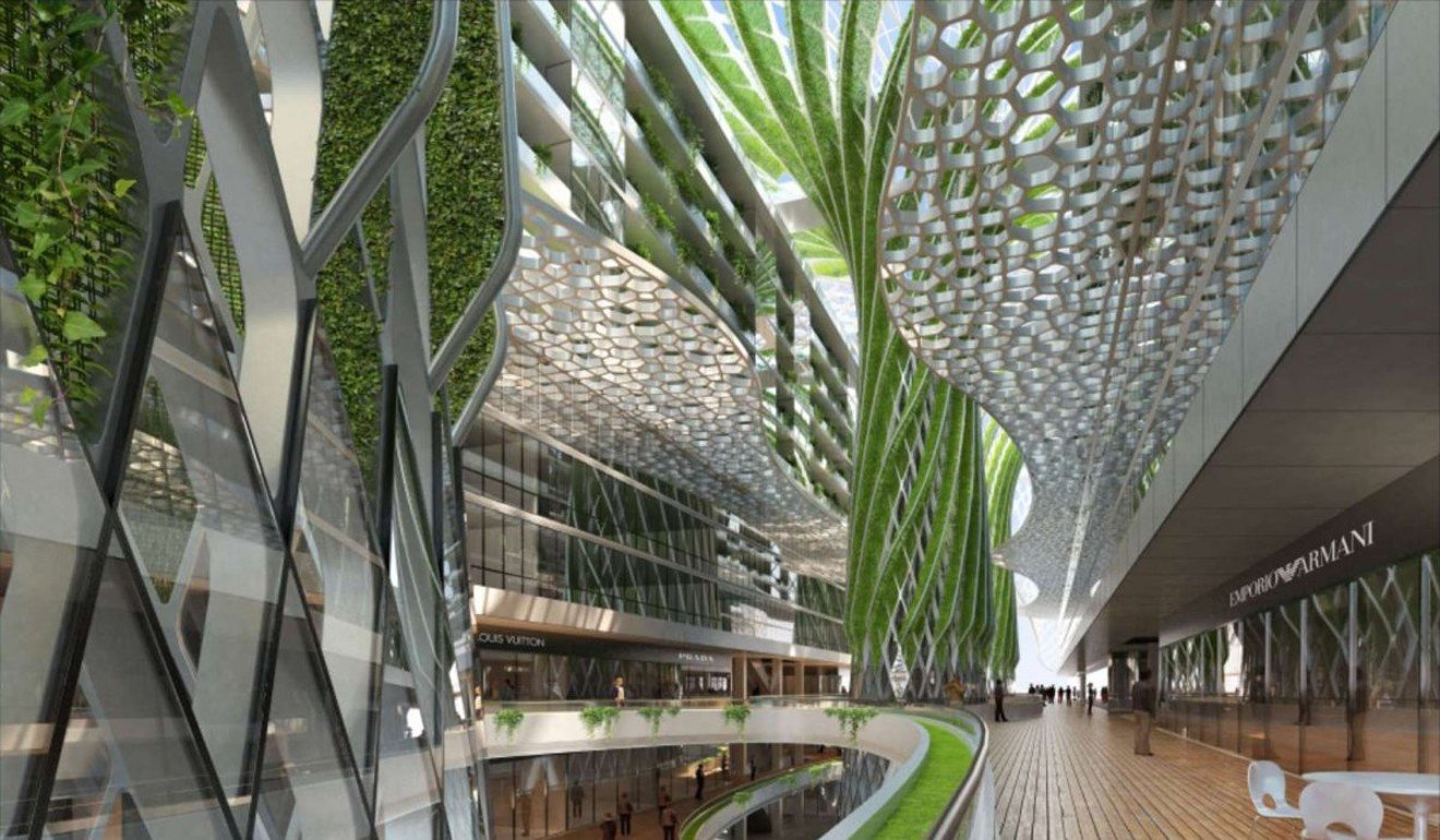 Green Cairo Apartment Block Features Indoor Mega Trees