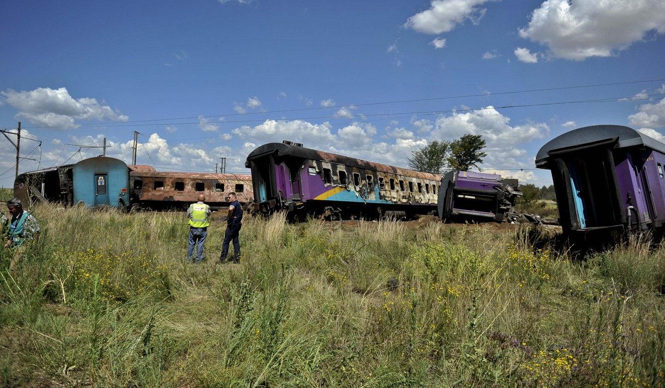 Zimbabweans Hit Back At South Africa Burning Out South: South African Train Hits Truck And Bursts In Flames