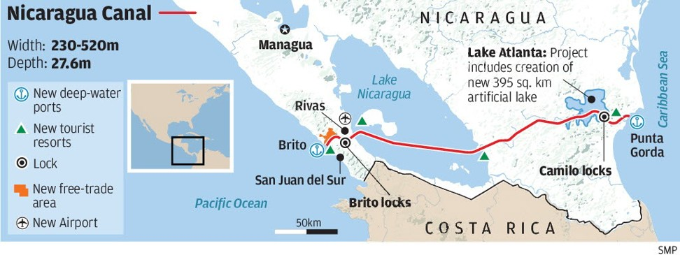 Nicaragua\'s US$50b rival to Panama Canal \'going ahead slowly\' as ...