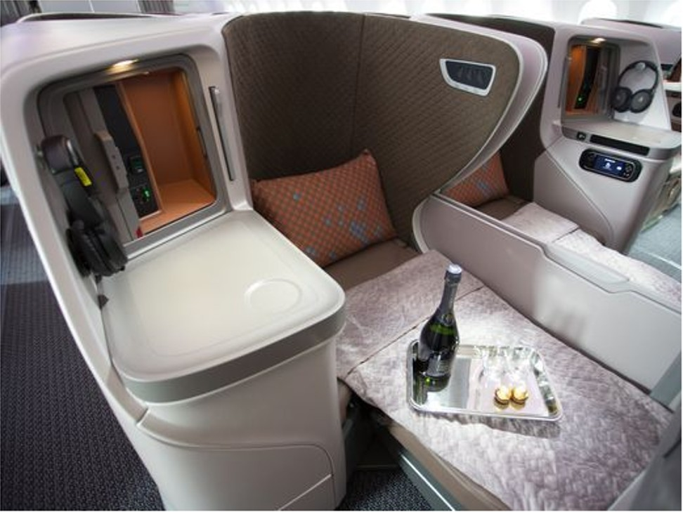 The Business Class Cabin Of Singapore Airlinesu0027 First Boeing 787 10. Photo:  Jeremy Dwyer Lindgren