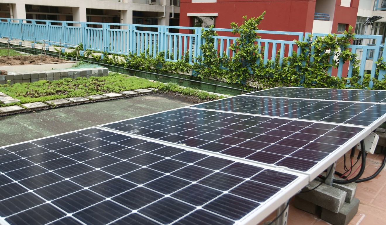 Clean Energy Government Wants To Make It Easier For Hong Kong Fair Project Idea Calculation Exercise A Solar Battery Charger The Panel System At St Bonaventure Catholic Primary School Photo Edmond So