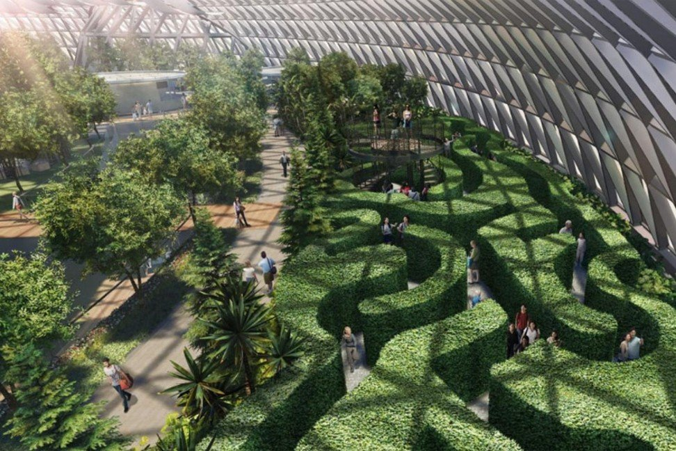 Canopy Mazes, Singapore's largest hedge maze in a garden environment, will be located inside Jewel Changi at Changi Airport.