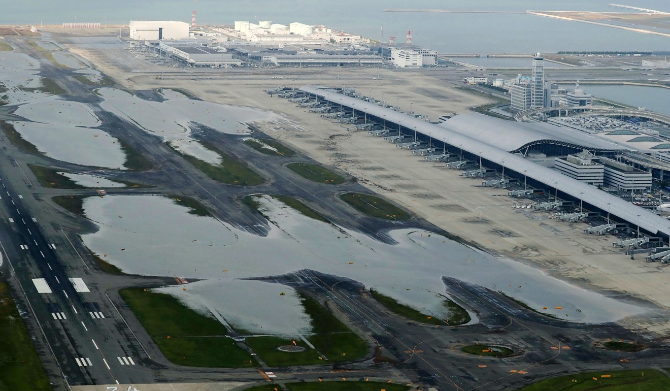 japan s kansai international airport set to be closed for a week in