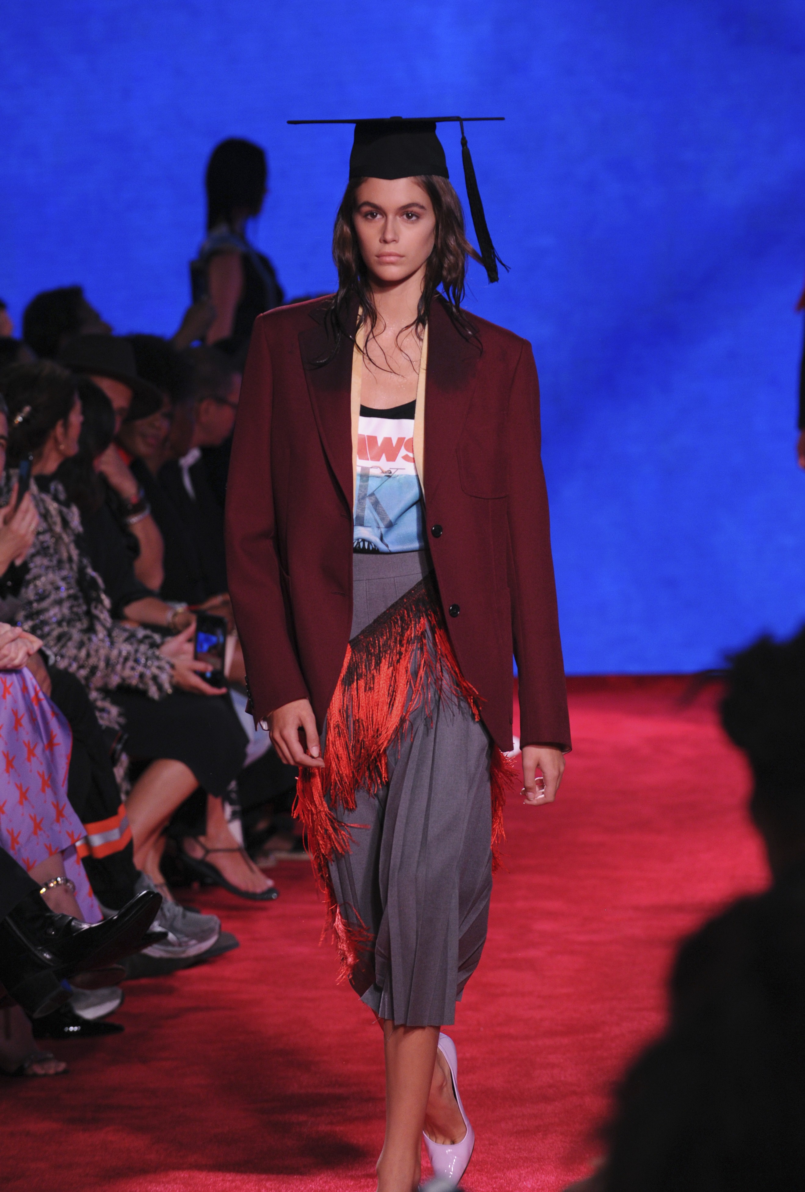 ce48f648 Raf Simons' Calvin Klein 205W39NYC show uses menacing 'Jaws' metaphor at  New York Fashion Week | South China Morning Post