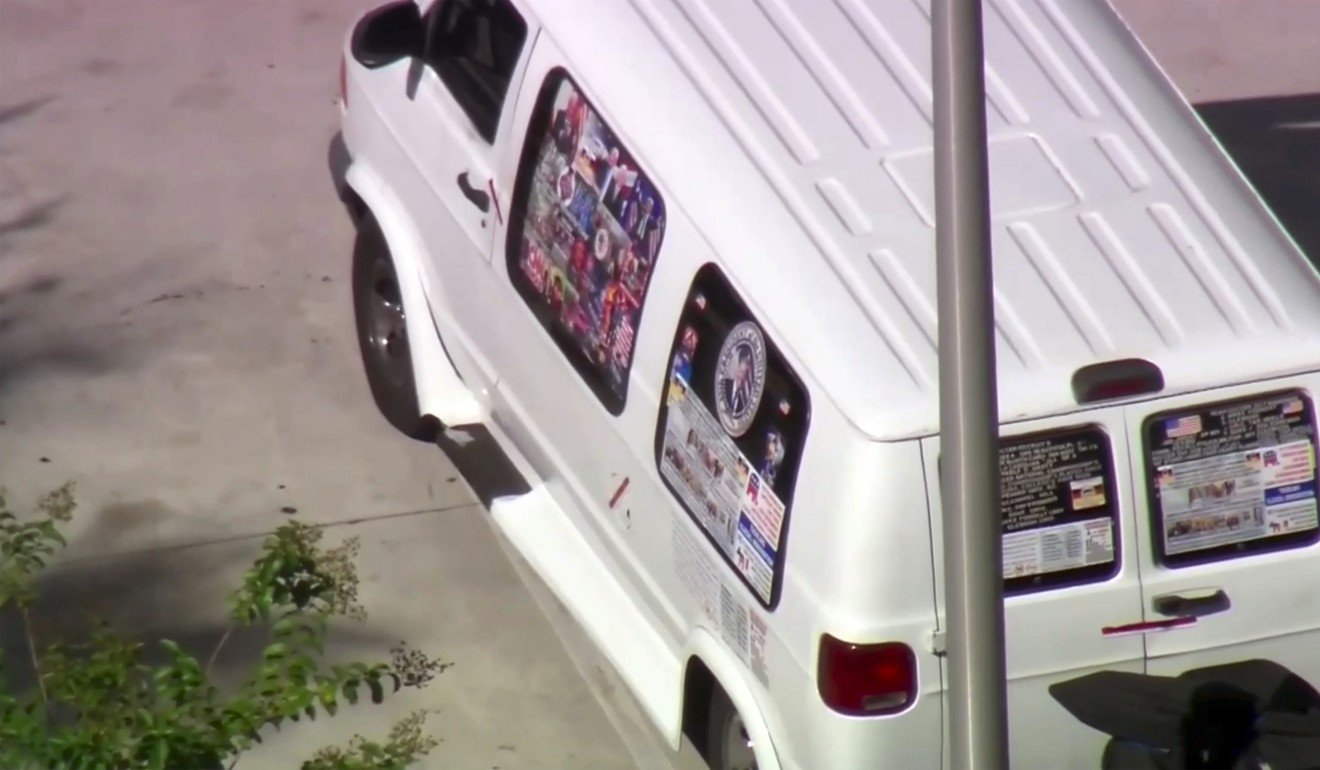US mail bomber' with van covered in Trump stickers is