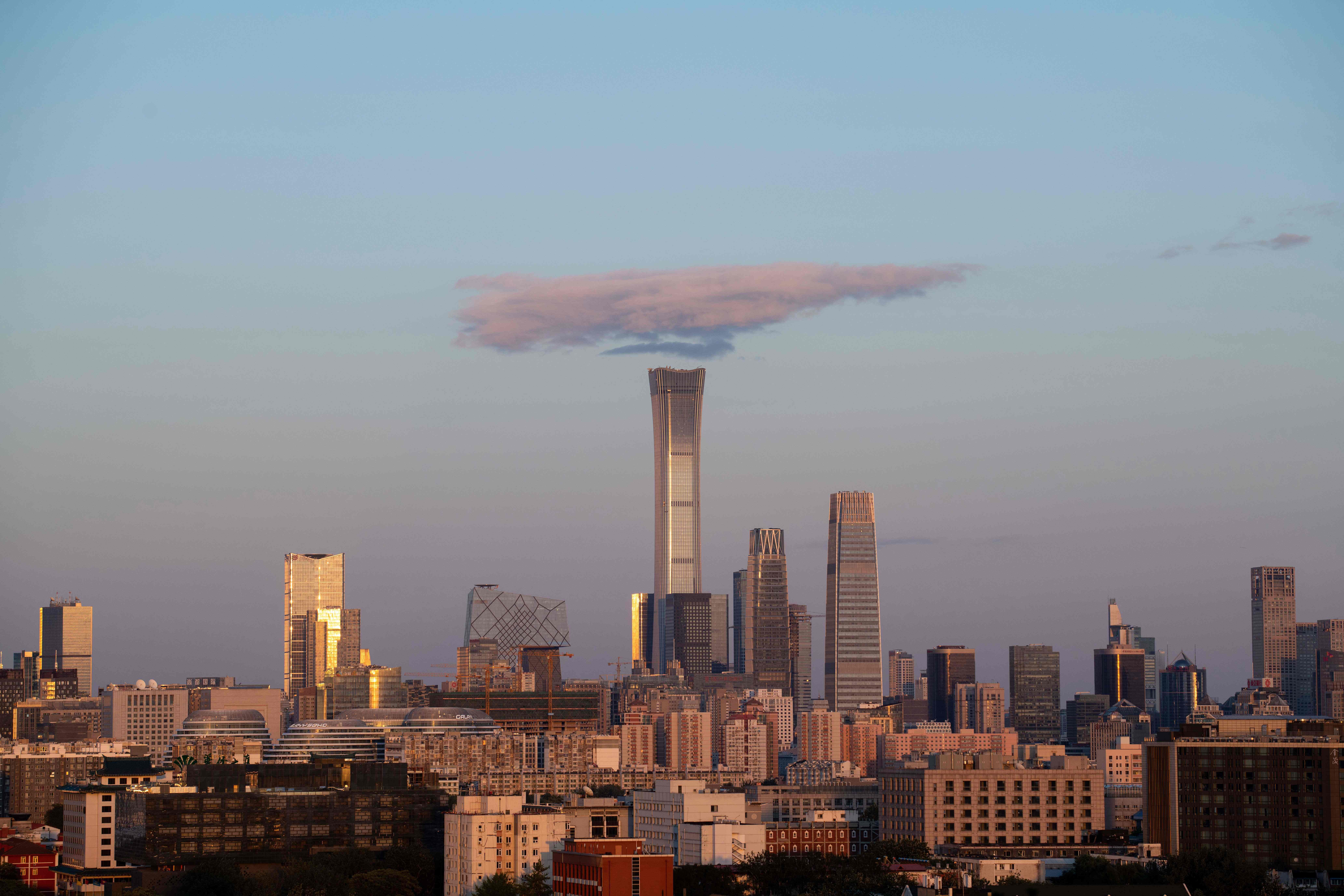 Despite rumours to the contrary, most tall buildings in China don't fall  down. Photo: AFP