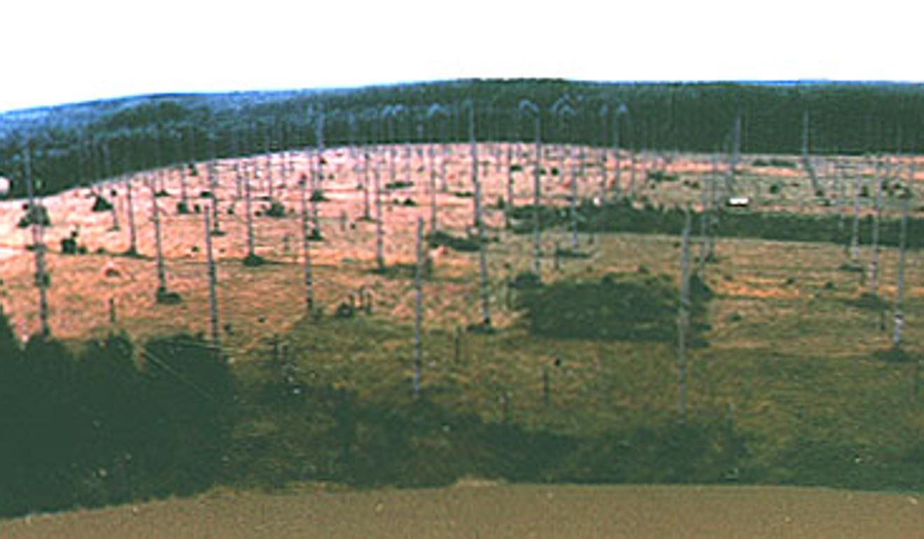 Høykraftige antenner ved det atmosfæriske varmeanlegget i Sura i Vasilsursk, Russland, som ble bygget av det tidligere Sovjetunionens militær under den kalde krigen.  Foto: Utdeling