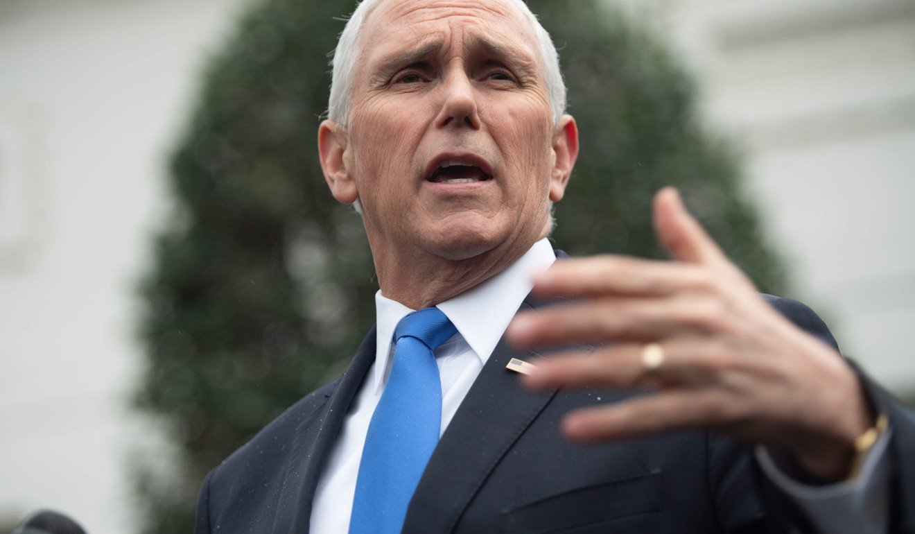 Sceptical: US Vice-President Mike Pence is concerned the Koh Kong project has a military use. Photo: AFP