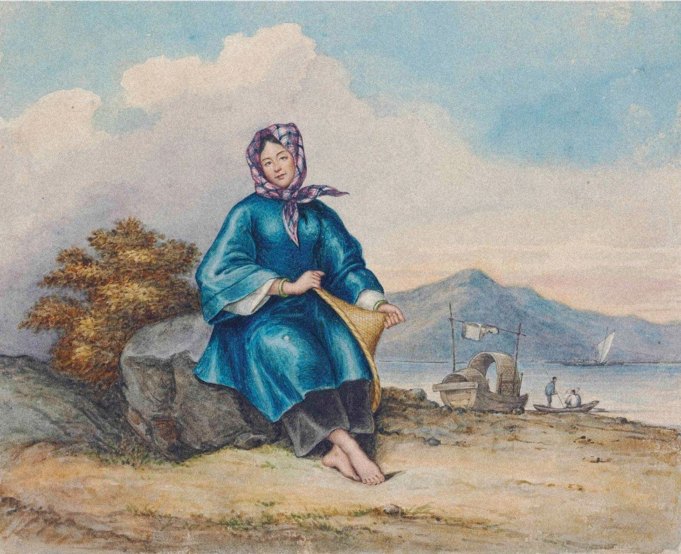 A painting of a Tanka boatwoman by George Chinnery (1774-1852). Photo: courtesy of the Hong Kong Maritime Museum