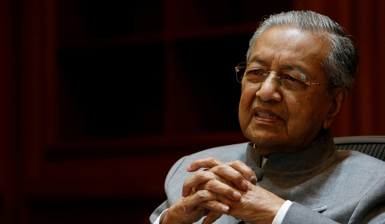 The Mahathir administration prefers to be close to China, economically speaking, because of the United States' unpredictability. Photo: Reuters