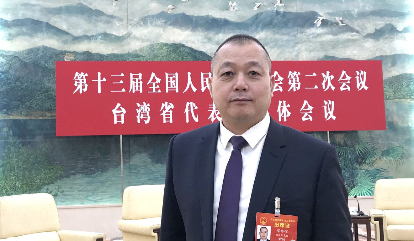 Cai Peihui, who has family roots in Tainan, is a businessman based in Hong Kong. Photo: Minnie Chan