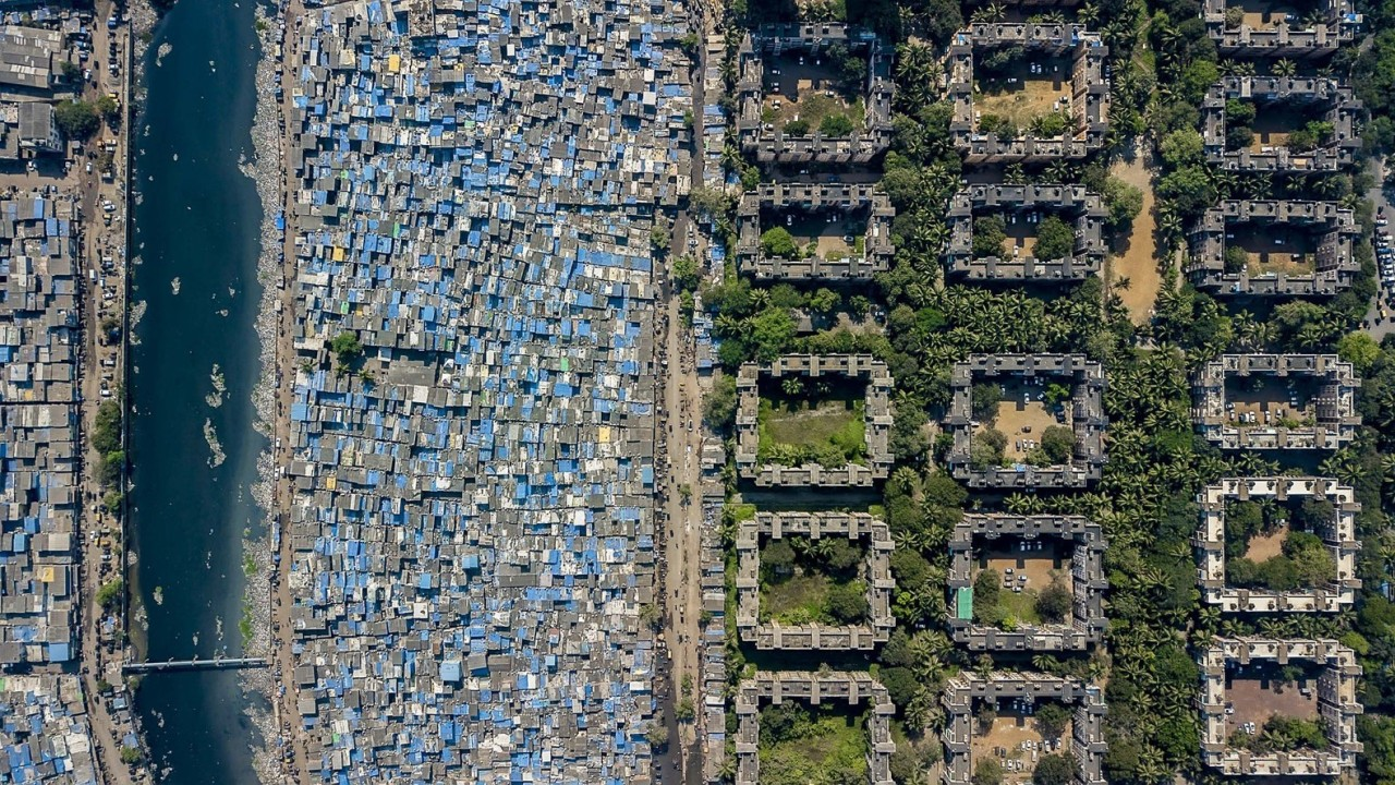 Drone images of India, South Africa offer bird's-eye view of rich-poor divide around world
