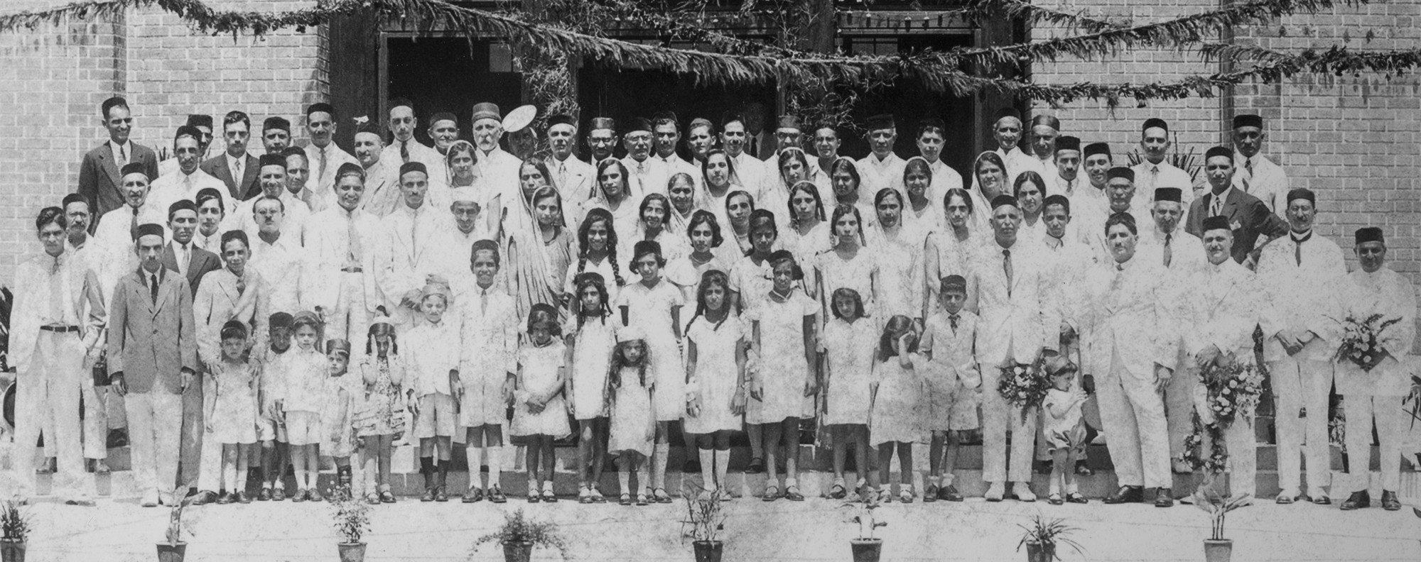 Members of Shanghai's Parsi community, circa 1900.