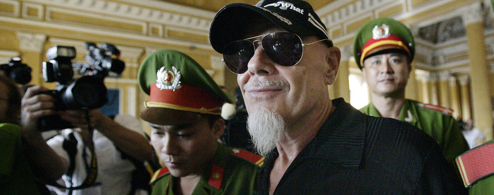 Gary Glitter in Vietnam after his expulsion from Cambodia. Photo: AFP