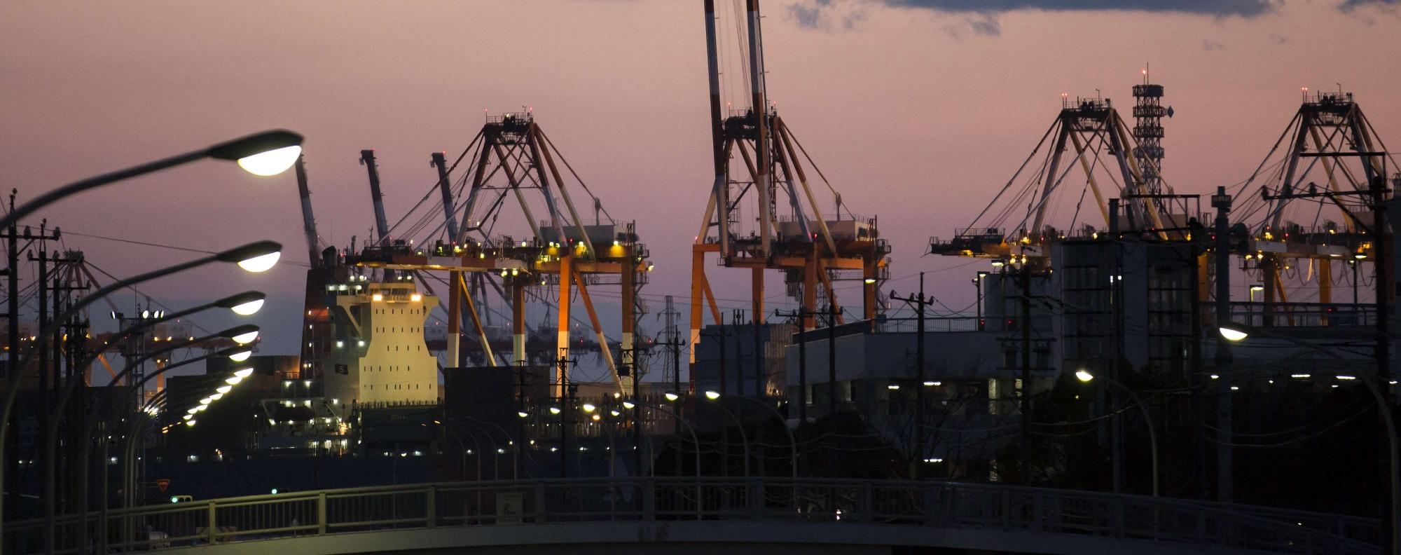 Cranes at the Nagoya Port. Photo: Bloomberg
