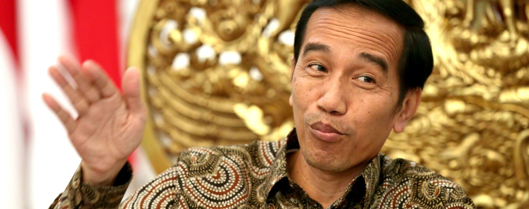 Widodo speaks to This Week in Asia. Photo: Thomas Yau