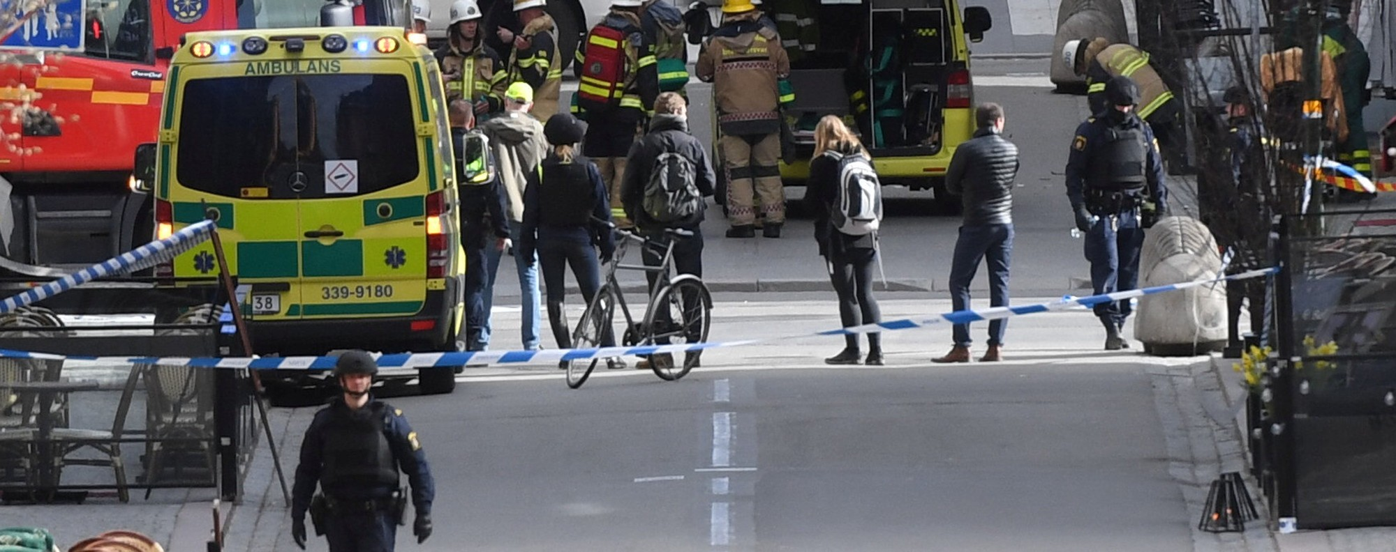 The site of a terror attack in Stockholm. Photo: Reuters