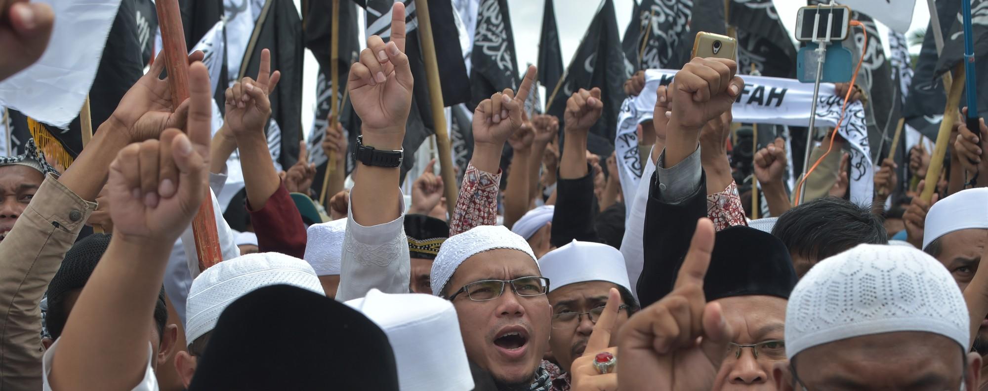 A Hizbut Tahrir Indonesia rally. Photo: AFP