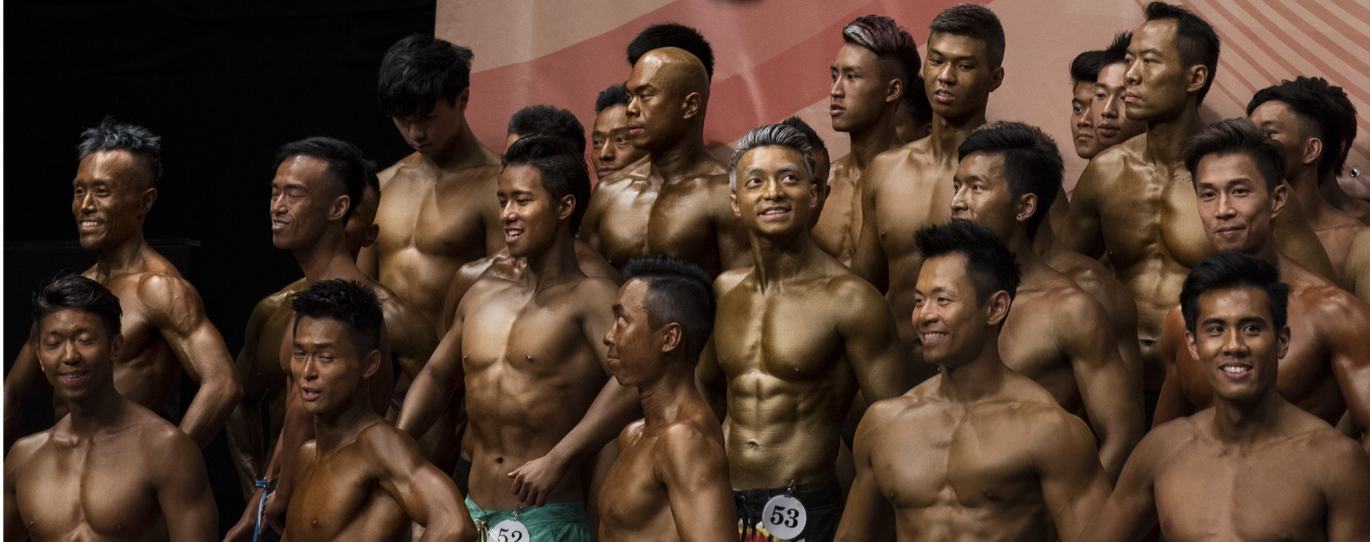 Participants in the 2016 Hong Kong Bodybuilding Championships. Picture: Miguel Candela