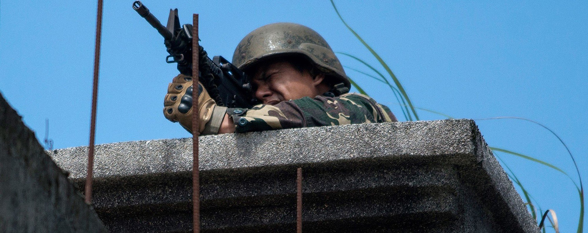 A Philippine soldier in Marawi. Photo: AFP