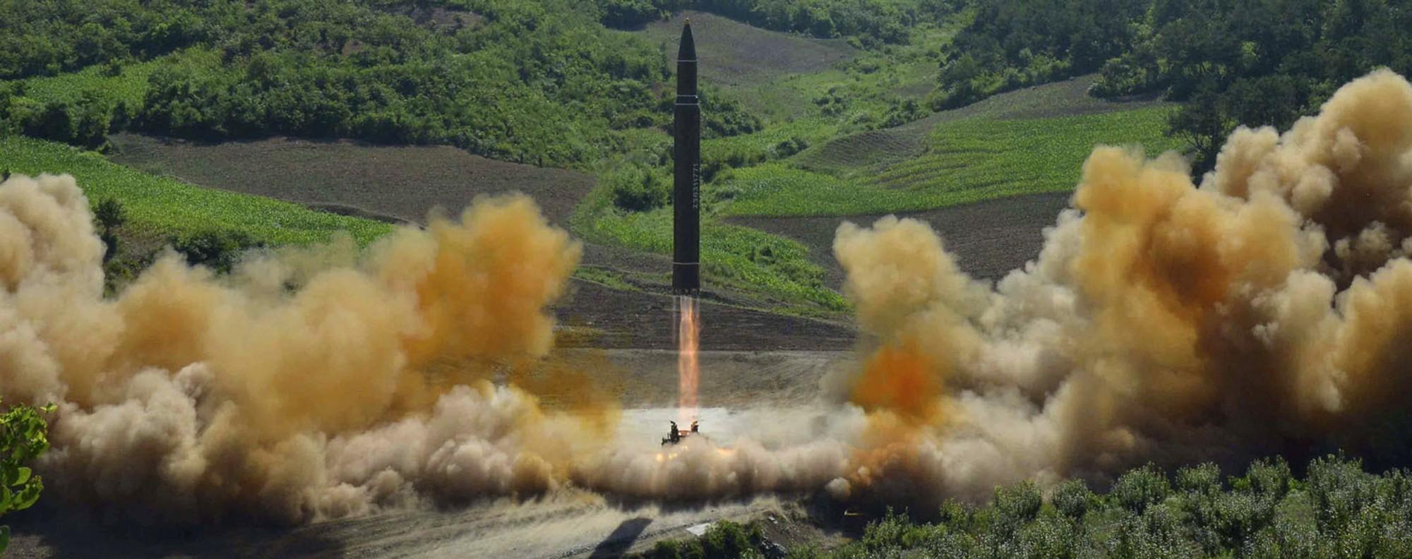 North Korea's ICBM test. Photo: AP