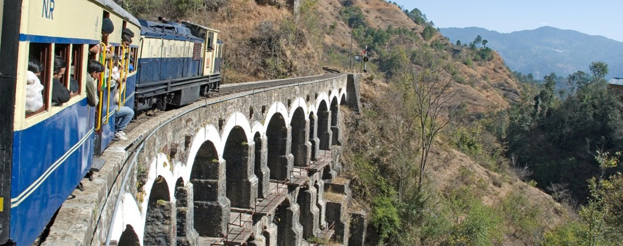 A narrow-gauge railway on the Kalka-Shimla line in India. Picture: Alamy