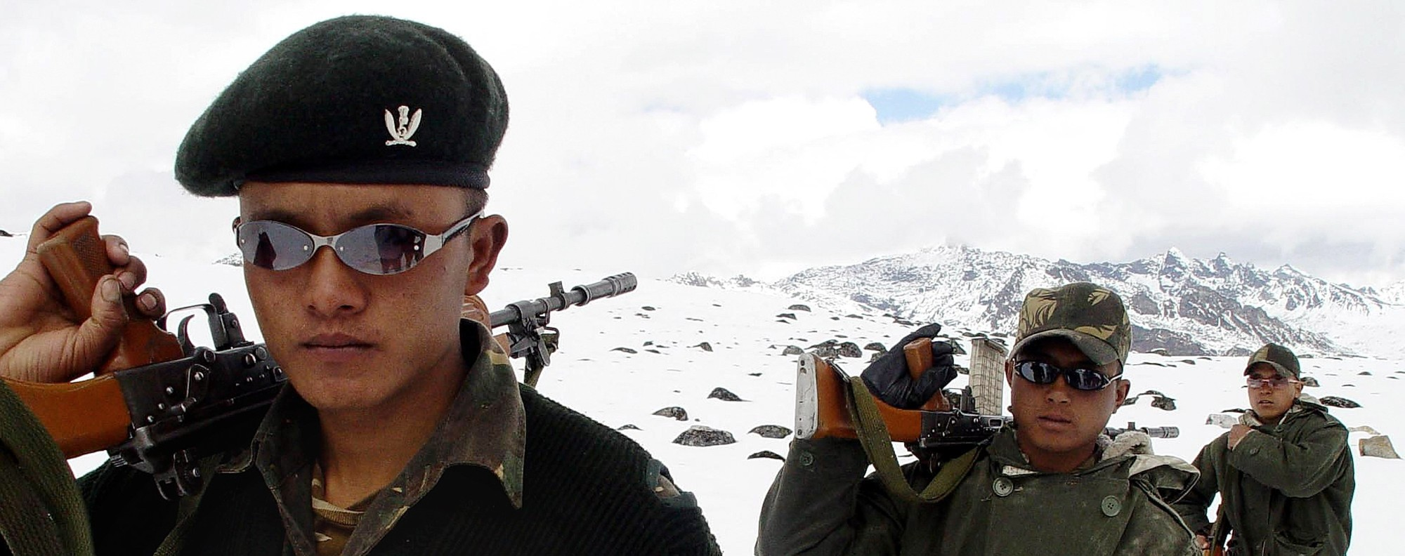 Indian Army soldiers of the Gorkha Regiment near Tawang. Photo: AFP