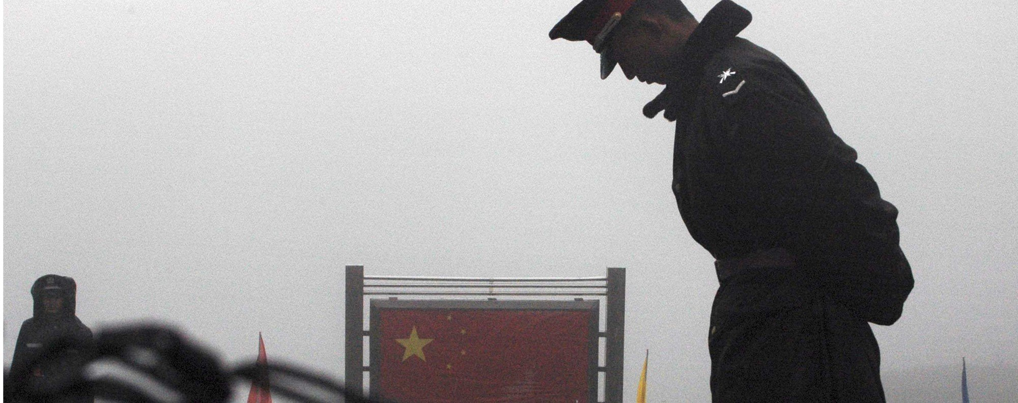 A Chinese soldier at the India border.