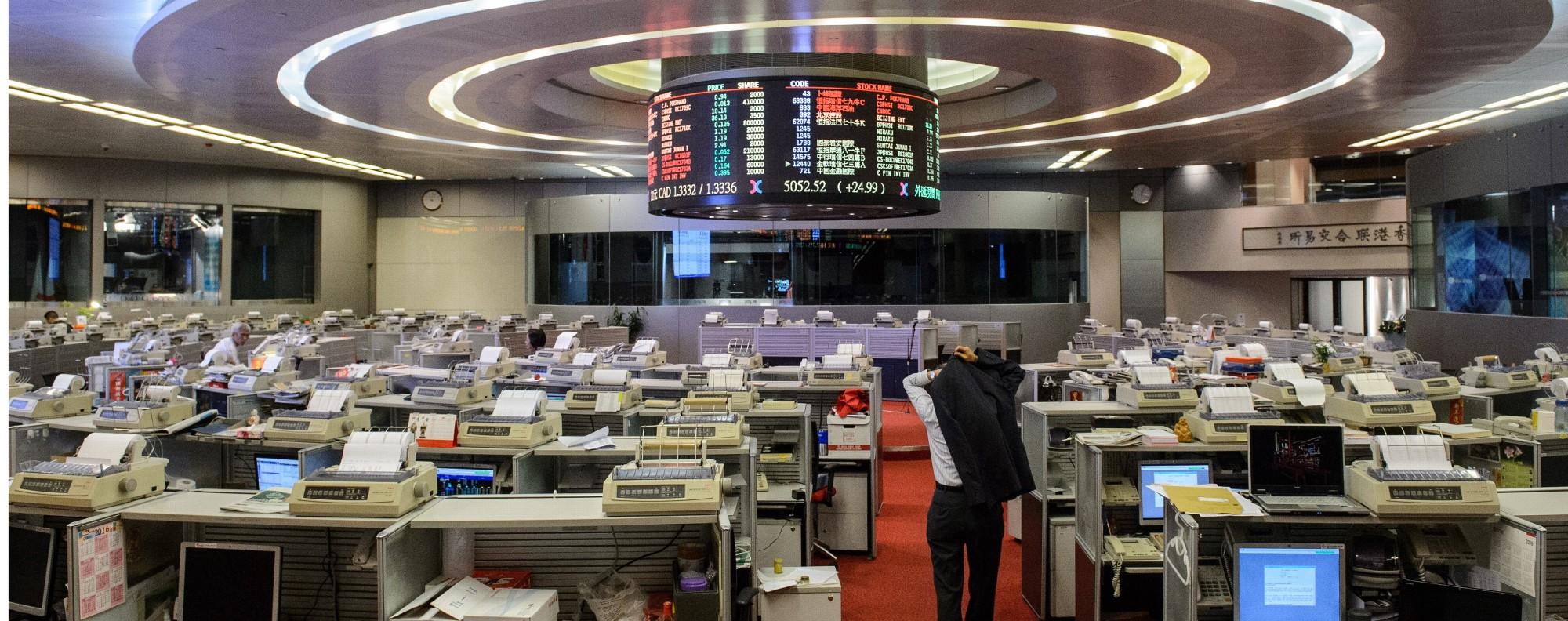 The Hong Kong Stock Exchange. Photo: AFP