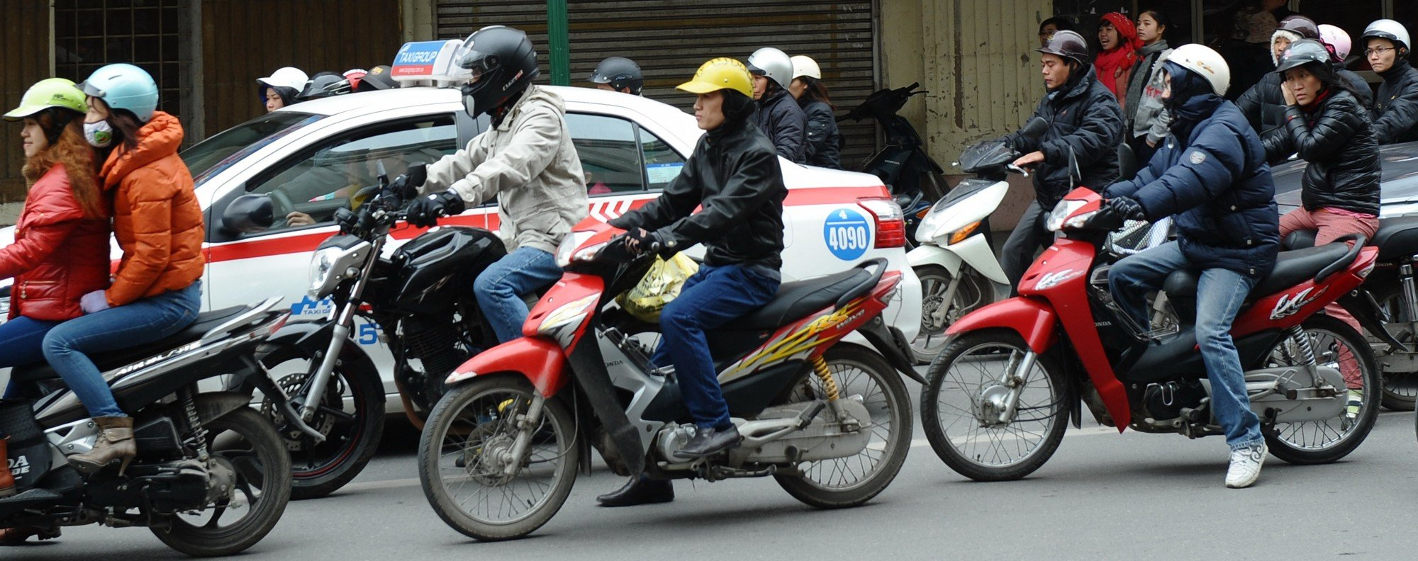 Motorcycles in Hanoi. Photo: AFP