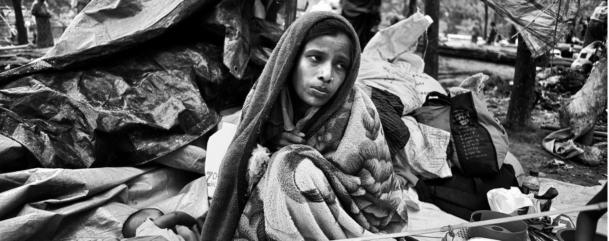 A Rohingya woman in a refugee camp, in Bangladesh. Picture: Greg Constantine