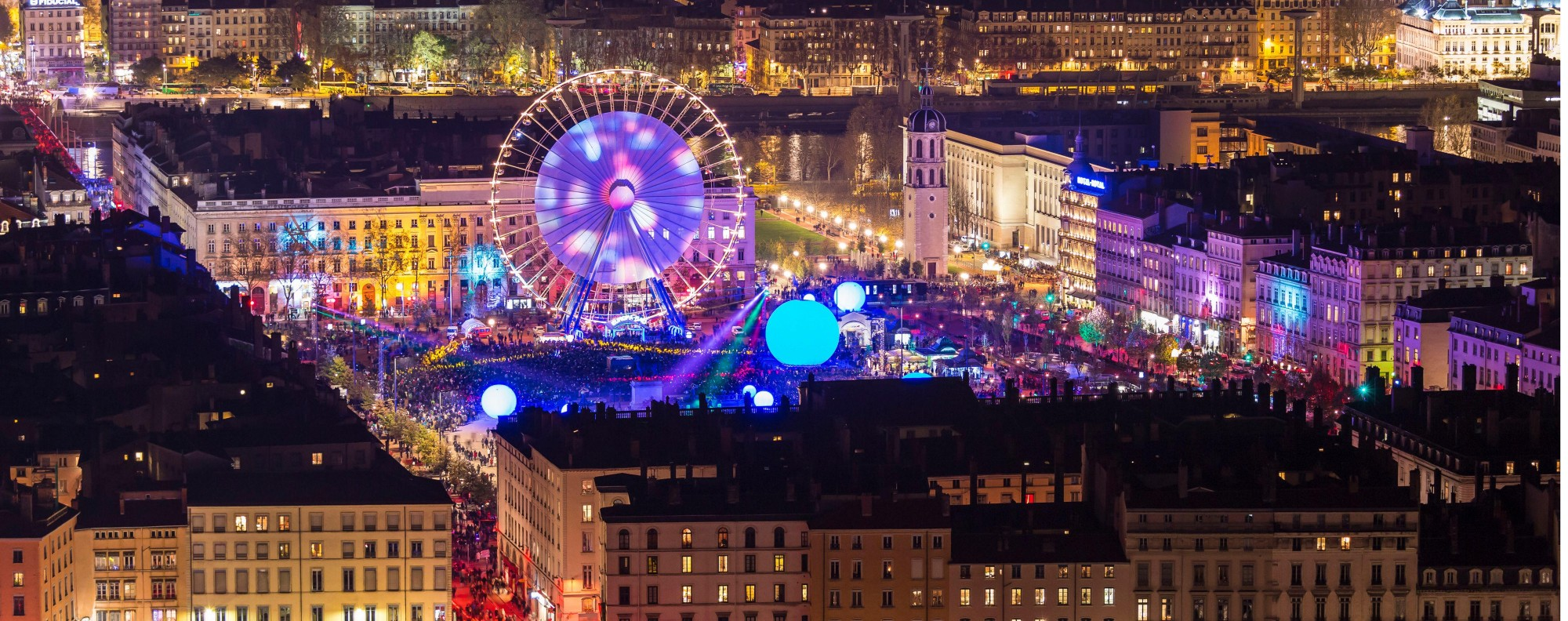 Lyon during Fête des Lumières. Picture: Alamy