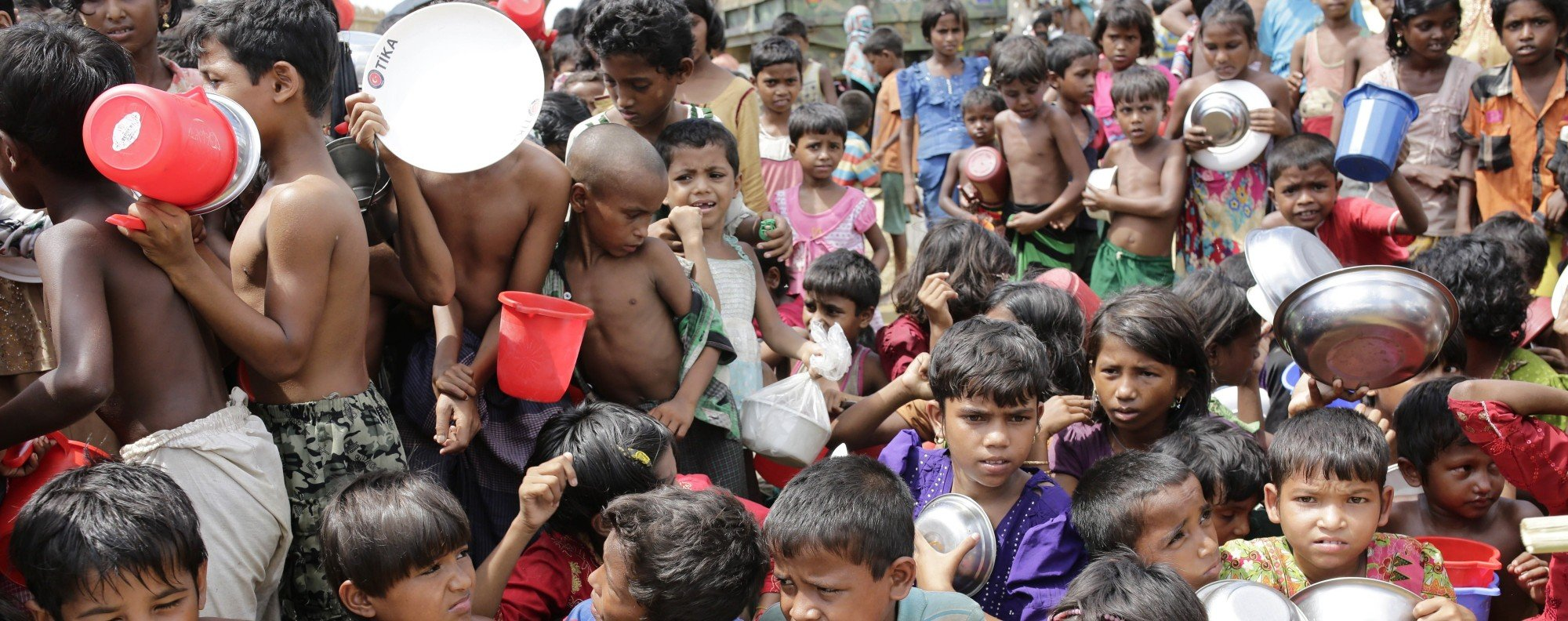 Rohingya children at a refugee camp in Bangladesh. Photo: EPA