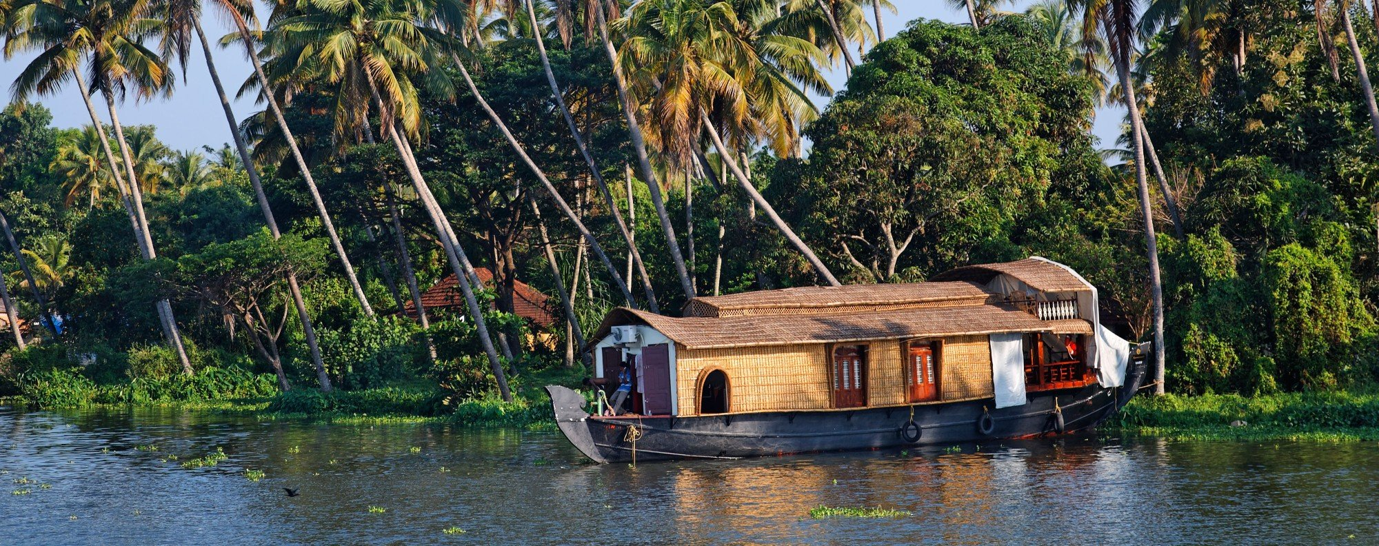 A houseboat in Kerala's backwaters. Picture: Alamy