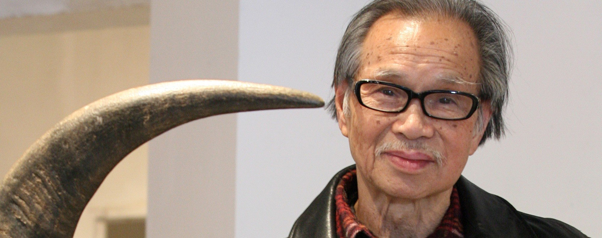 Ha Bik-chuen with one of his sculptures in January 2009.