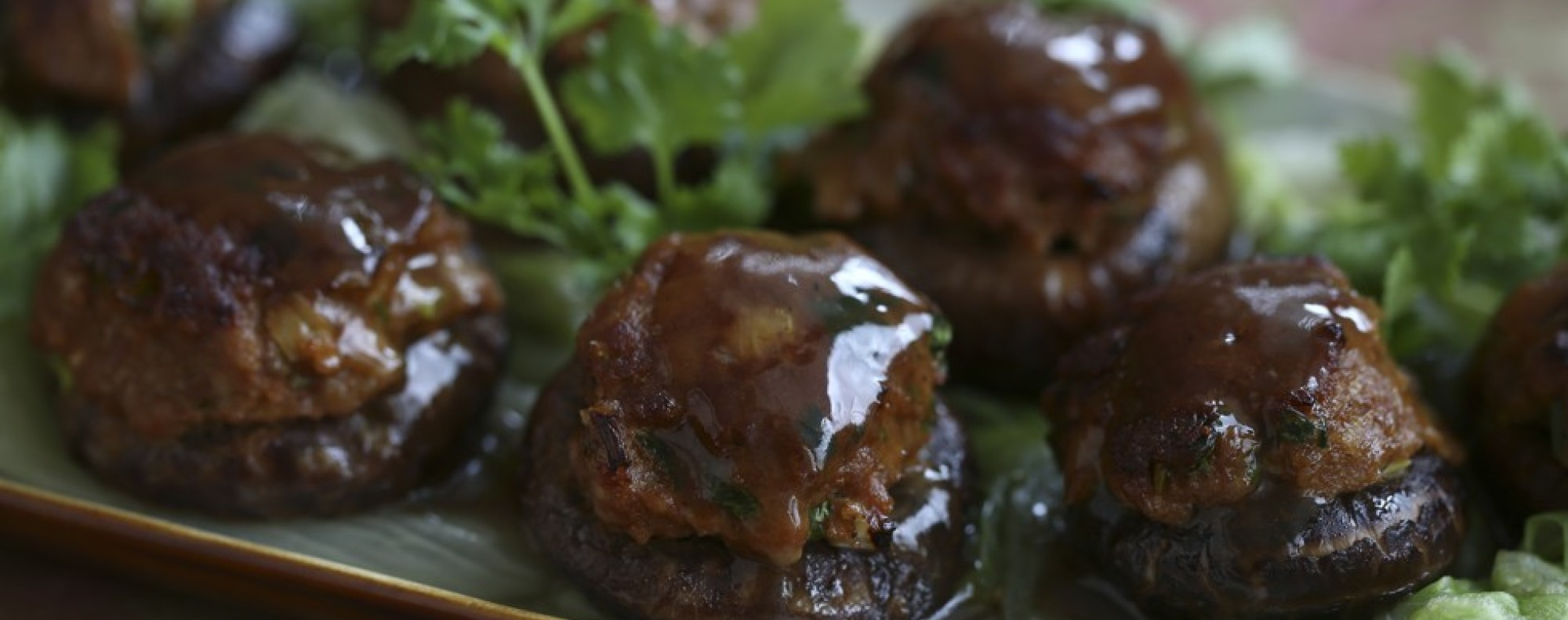 Stuffed Chinese mushrooms by Susan Jung.