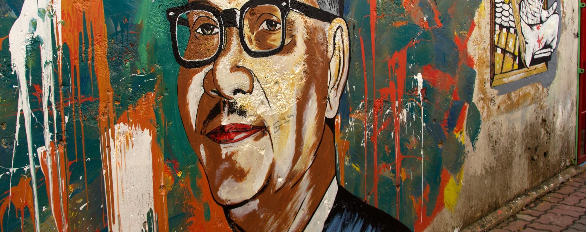 A mural of Tunku Abdul Rahman in Malaysia. File photo