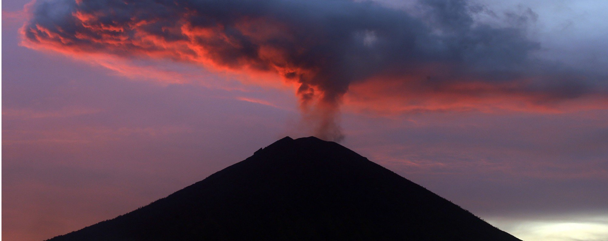 Mount Agung volcano in Bali, Indonesia. Photo: AP